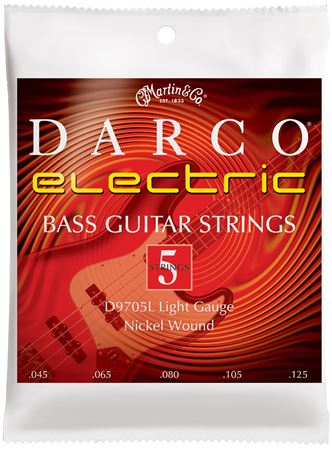 Martin 41D9705L Electric Bass Strings 5 String