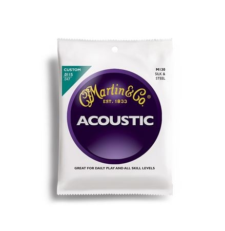 Martin M130 Silk and Steel Acoustic Guitar Strings Custom