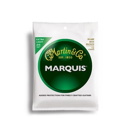 Martin Marquis 80/20 Bronze Acoustic Guitar Strings 12 String Set