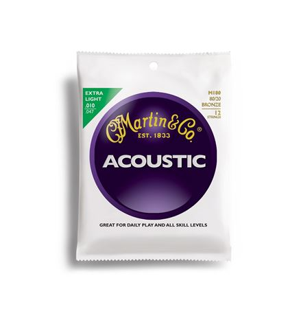 Martin 80/20 Bronze Acoustic Guitar Strings 12 String Set