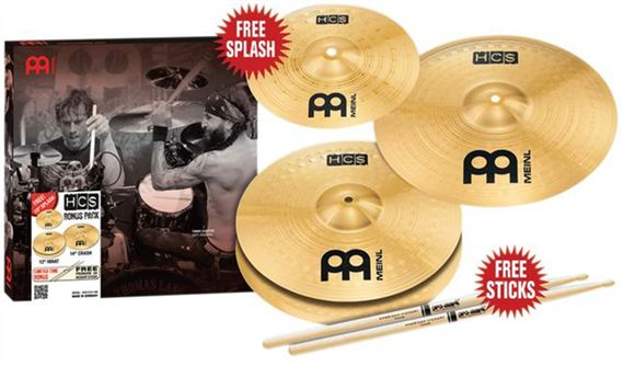Meinl Percussion HCS Value Added Cymbal Package with Free Splash and Sticks Value $33.98