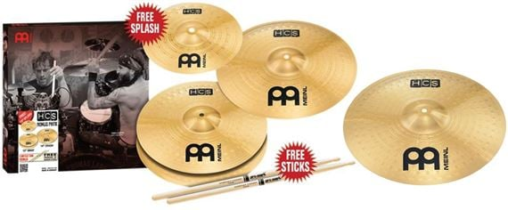 Meinl Percussion HCS Cymbal Package with 18 Inch Crash Ride