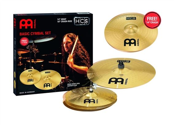 Meinl HCS Value Added Cymbal Set With Free 14 Inch Crash