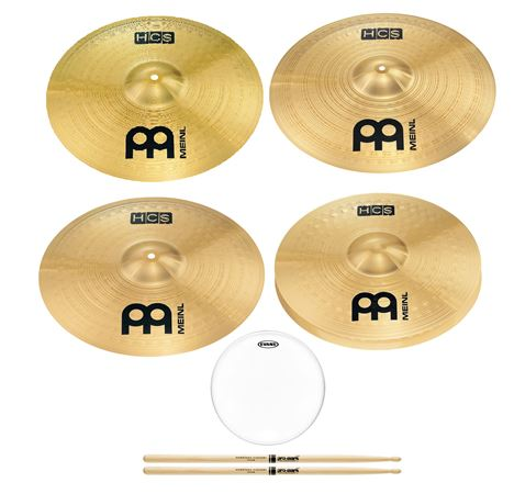 Meinl HCS Cymbal Set 14 Hats 18 and 20 Crash 20 Ride 5A Wood B14G1