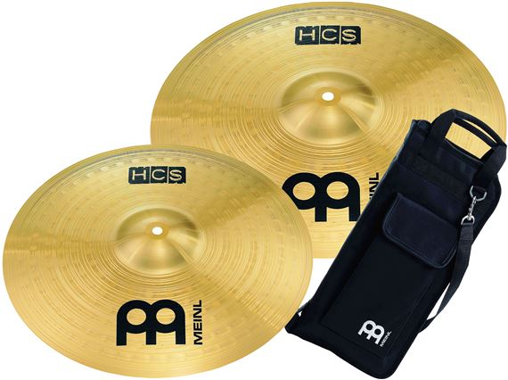 Meinl Cymbals HCSC2 Crash Pack 14 and 16 inch With Free Stick Bag
