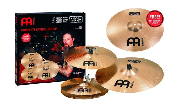 Meinl MCS Value Added Cymbal Package With Free 18 Inch Medium Crash