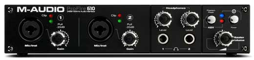 M Audio ProFire 610 Firewire Audio Interface