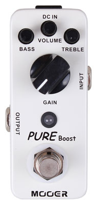 Mooer Micro Pure Boost Clean Boost Guitar Effects Pedal