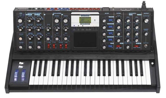 Moog MiniMoog Voyager Electric Blue Analog Keyboard Synthesizer