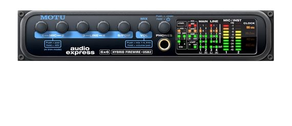 MOTU Audio Express Hybrid USB and Firewire Audio Interface