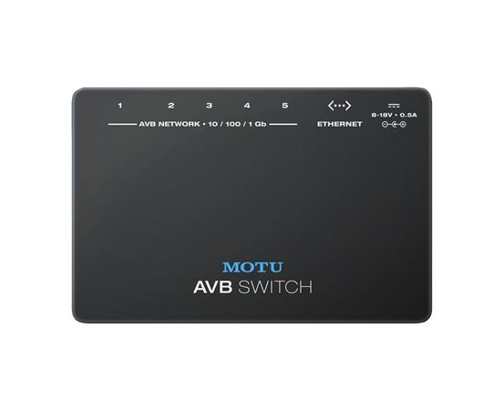 MOTU AVB Switch Five Port AVB Ethernet Switch