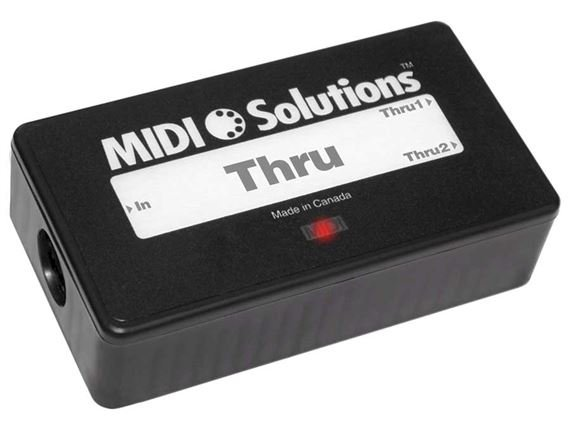 MIDI Solutions Thru 2 Output Active MIDI Thru Box