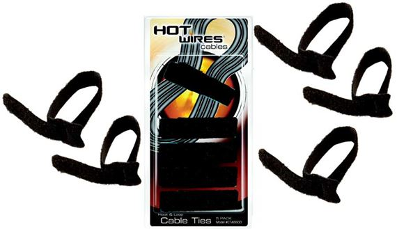 On Stage CTA6600 Velcro Cable Ties 5 Pack Black