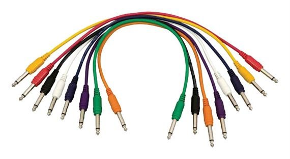 Hot Wires PC1817QTR 1/4 to 1/4 Inch Patch Cables