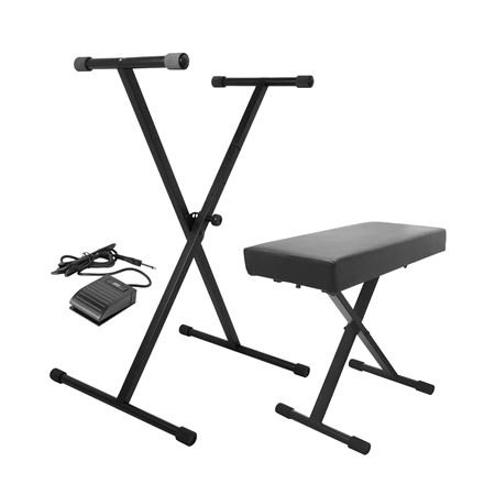 On Stage KPK6520 Keyboard Stand and Bench Pack with Sustain Pedal