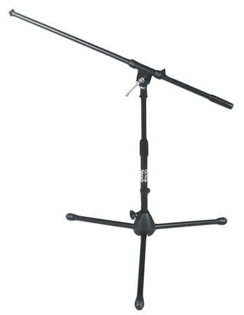 On Stage MS7411B Short Black Tripod Boom Microphone Stand