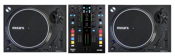 Mixars Duo Mixer with two STA Turntables