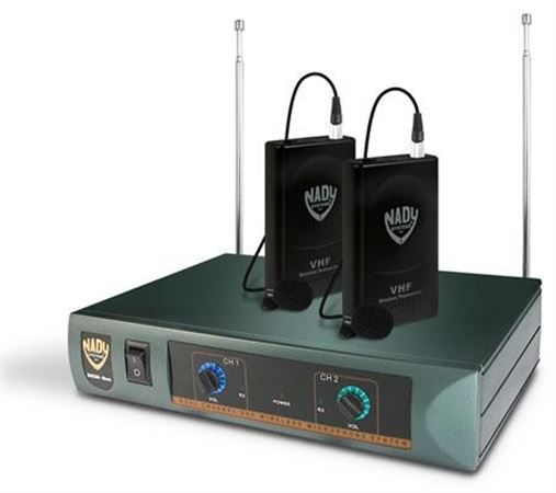 Nady DKW Duo VHF Dual Lavalier Wireless Microphone System