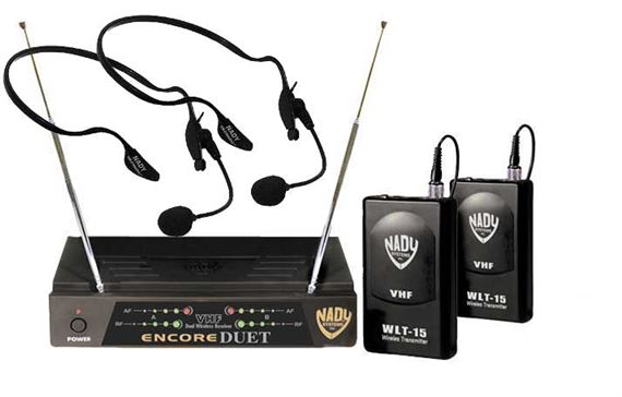 Nady Encore Duet VHF Dual Headset Wireless Microphone System