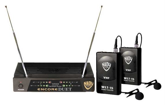 Nady Encore Duet VHF Dual Lapel Wireless Microphone System