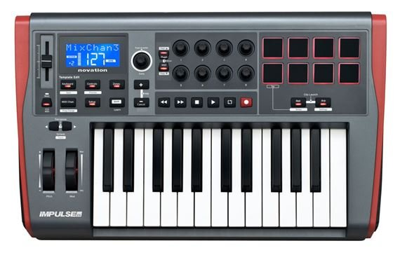Novation Impulse 25 25 Key USB MIDI Controller Keyboard