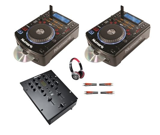 Numark CD DJ Package with CD players Mixer Cables and Headphones