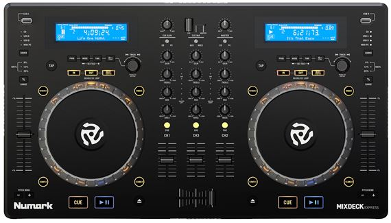 Numark Mixdeck Express DJ Controller with CD and USB Playback Black