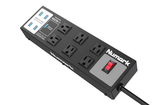 Numark Production Hub Power Strip with USB 3 Hub