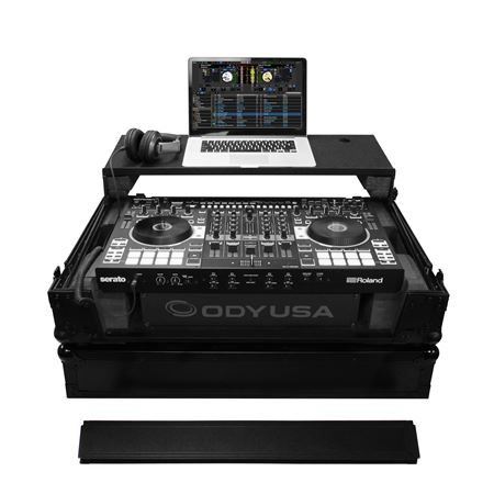 Odyssey FZGSRODJ808W2BL Black Label Glide Style Case for Roland DJ808