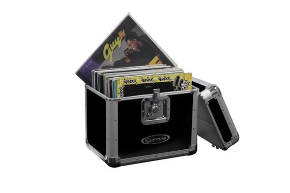 Odyssey Krom KLP2BLK Stacking Lid LP Vinyl Record Case