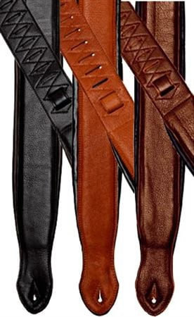 Onori L7P Top Grain Leather Padded Guitar Strap