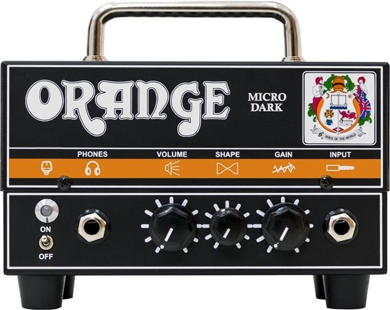 Orange Micro Dark Terror Mini Electric Guitar Head Hybrid 20 Watts