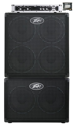 Peavey Headliner Head and Dual Cabinet Bass Amplifier Stack