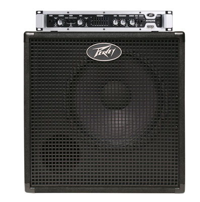 Peavey Headliner Head and 1x15 Cabinet Bass Amplifier Stack