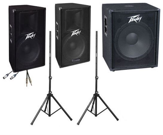 Peavey PV Full Range PA Speaker and Subwoofer System
