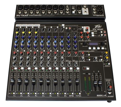 Peavey PV14 AT 14 Channel Stereo Mixer with Compression and Auto Tune