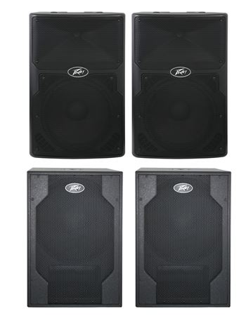 Peavey PVXp12 and XPsub Powered PA Speaker Package