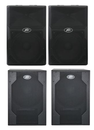Peavey PVXp15 and XPsub Powered PA Speaker Package