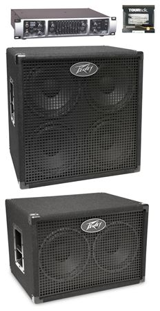Peavey Tour 450 Bass Amplifier Head and Dual Cabinet Package