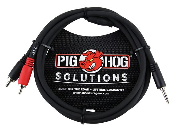 Pig Hog Solutions 3.5mm to Dual RCA Stereo Breakout Cable