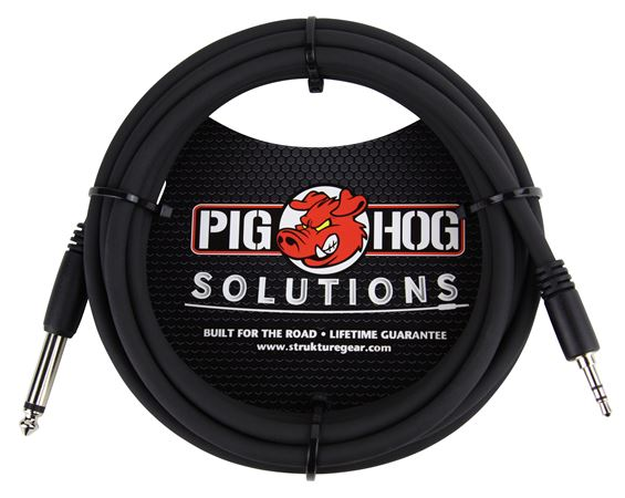 Pig Hog Solutions PX-35T4M 1/8 inch TRS to 1/4 inch Mono Cable