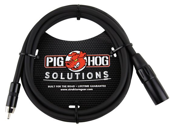 Pig Hog Solutions PX-XMR06 XLR to RCA Cable