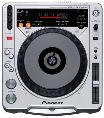 Pioneer CDJ800 MK2 Digital Vinyl DJ Turntable CD Player