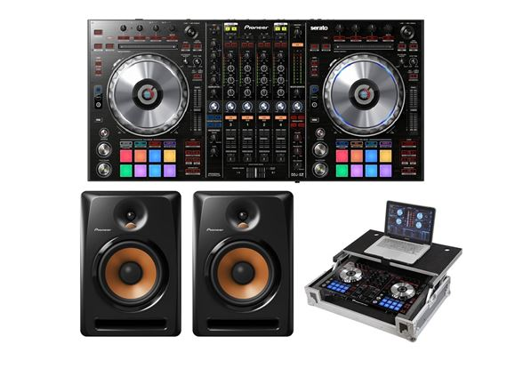 Pioneer DDJSZ Professional DJ Controller with Bulit8 Monitors and Case