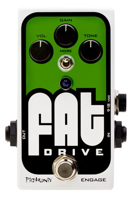 Pigtronix FAT Drive Tube Sound Overdrive Guitar Pedal