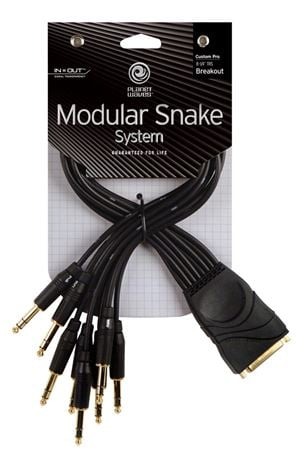 Planet Waves Modular Snake TRS Breakout Cable