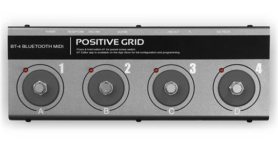 Positive Grid BT4 4-Button Bluetooth Footswitch
