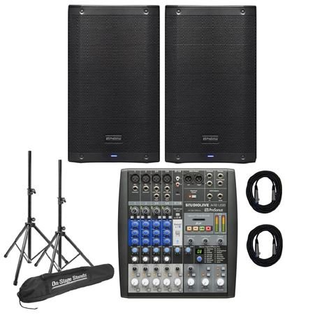 PreSonus AIR10 Pair With AR8 Mixer Bundle