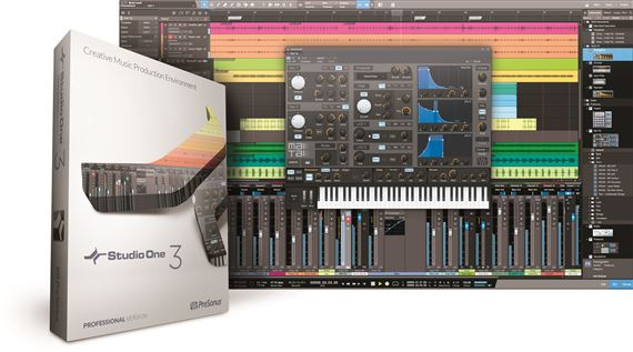 PreSonus Studio One 3 Professional Software With Key Card