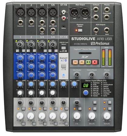 PreSonus StudioLive SLM AR8 8 Channel Hybrid USB Mixer Interface